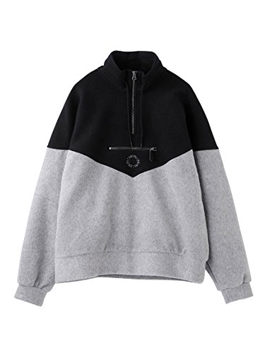 X-girl(エックスガール)HALF ZIP SWEAT TOP