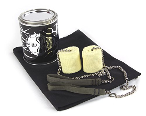 Trick Concepts - Fire Beginner Poi (Pair) With Kevlar Wick , Quart Dip Can and Fire Blanket (Pyro Safety Blanket)