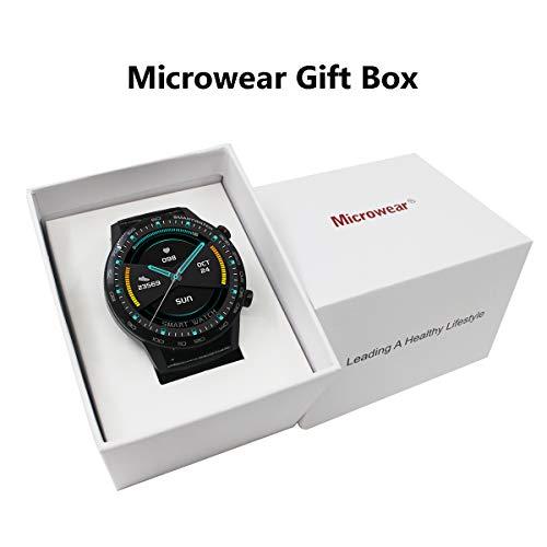 Microwear L16 Bluetooth impermeable Smartwatch Fitness Tracker,Moda,reloj deportivo,Podómetro,Control de Música,Monitor de Sueño,para iOS Android (Plata)