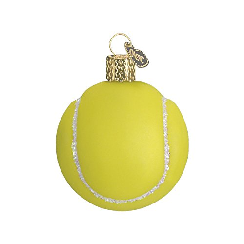 Old World Christmas Tennis Ball Glass Blown Ornament