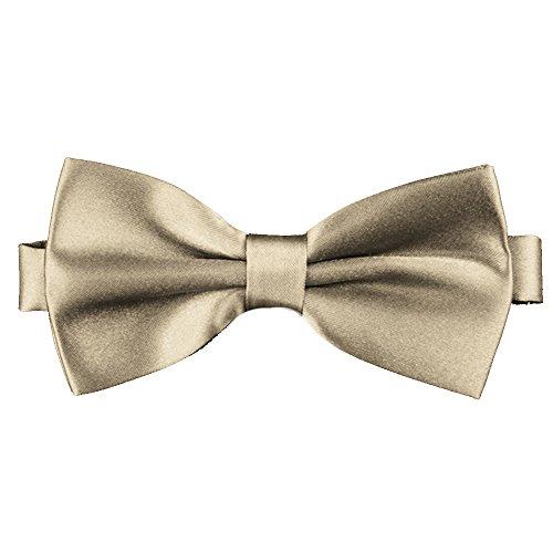 Flairs New York Little Gentleman's Kids Bow Tie (Pale Gold)