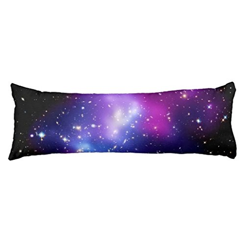 Galaxy Body Pillowcase for Bed Silky Long Body Pillow Cover Decorative 20 x 54 Inch Machine Washable FiuFgyt 100768265