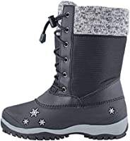 Baffin Girl's Avery Waterproof Winter Boot Black 3 Mediu