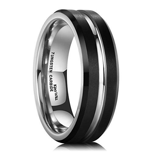 King Will Tungsten Carbide Engagement