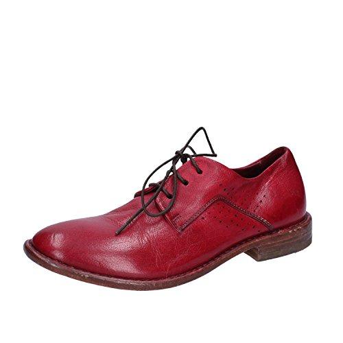 Cuero Rojo Cordones Mujer Moma Zapatos Para De tYqzwp8v