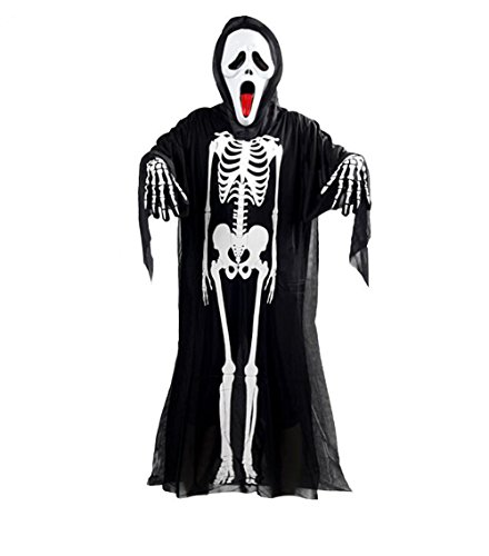 Scream For Costumes Adults (Miracliy Adult Halloween Costume Skeleton Cloak with Scream Ghost)