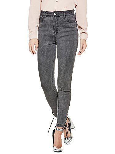 GUESS Factory Women's Abriana Lace-Up Skinny Jeans