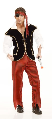 Men's Pirate Captain Costumes (Forum Novelties Men's Adult Pirate First Mate Costume, Multi Colored, One Size)