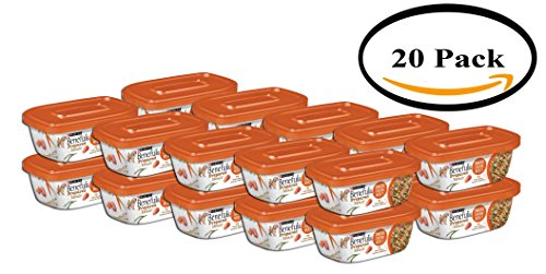 PACK OF 20 - Purina Beneful Prepared Meals Simmered Chicken Medley Dog Food 10 oz. Plastic Tub by Purina Beneful