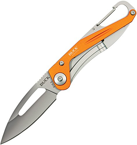 Buck Knives 0818ORS APEX Orange Folding Knife with Carabiner Clip by Buck Knives (Image #1)