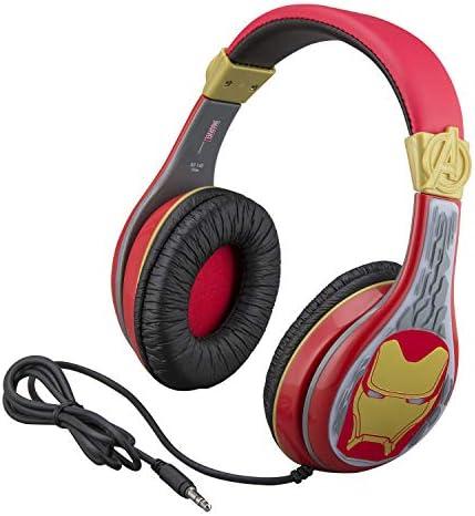 eKids Avengers Endgame Kids Headphones Adjustable Headband Stereo Sound 3.5Mm Jack Wired Headphones for Kids Tangle-Free Volume Control Childrens Headphones Over Ear for School Home Travel