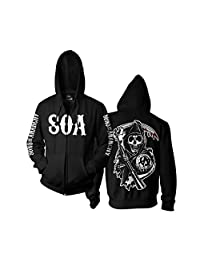 Officially Licensed Merchandise SOA Reaper Zipped Hoodie