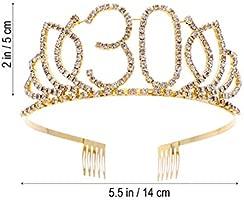 Moda Tiaras de cumpleaños de diamantes de imitación con ...