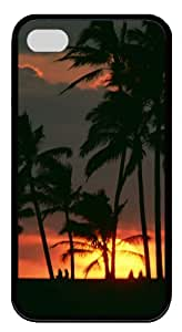 iphone 4 case sale covers Sunset 2 TPU Black for Apple iPhone 4/4S