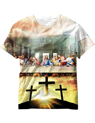 CloseoutZone Last Supper T-Shirt, Leonardo Christ's Sacrifice Resurrection