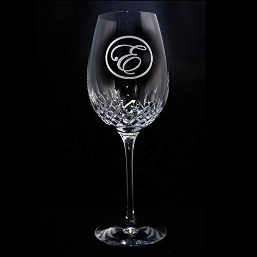 - Waterford Crystal Lismore Essence Wine Goblet Glass Engraved Monogram