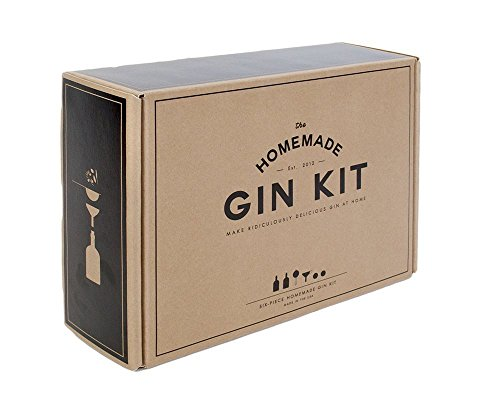 Gin Kit with 2 Glass Bottles(375Ml), Stainless Funnel & Strainer & (Bottle Of Gin)