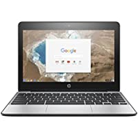 HP CHROMEBOOK 11-G5 Laptop, INTEL:N3050/CDC-1.60GLV, 1.60 GHz, 16 GB, INTEL-HD/IGP, CHROME-O/S, Black/Silver, 11.6 (Certified Refurbished)