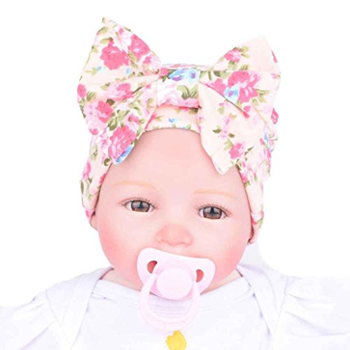 [Newborn Hospital Hat, Franterd Baby Hats Bowknot Flower Cap Headwear] (Kitty Newborn Baby Costumes)