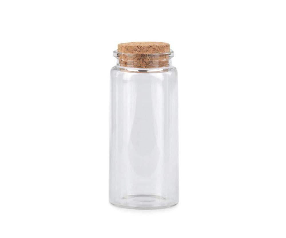 1vial透明ガラスバイアル/ミニガラス瓶とコーク47x100mm、ペットボトル、クラフト基礎,&趣味   B07SFZXML2