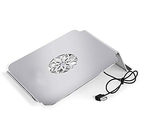 Aoligei súper cuaderno del ordenador portátil soporte de aluminio de rack con el ventilador de refrigeración de base de enfriamiento / sin ventilador: ...