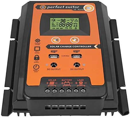 SCYDAO 50A 70A MPPT Solarladeregler 12V 24V Schutz Intelligente Schalter LCD Auto-Panel Batterieregler Laderegler Überlastung,70a