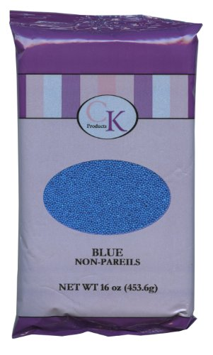 Non Pareils Cookie Sprinkles (CK Products 16 Ounce Bag of Non Pareil, Blue)