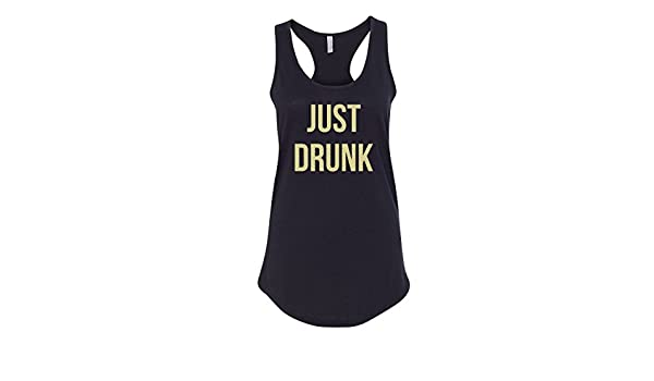 ed41778c0cc8f CreateMyTee Just Drunk Bachelorette Party Tank Top (Small) Black at Amazon  Women s Clothing store