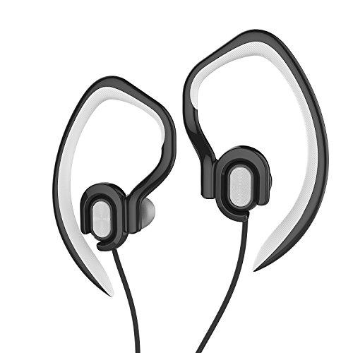 Sports Headphones Detachable Earhook Earphones with Microphone,Stereo Sweatproof