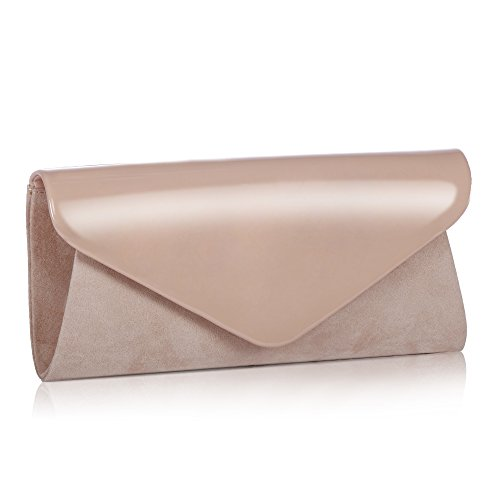 Classic Leather Classic Wallet - Patent Leather Clutch Classic Purse Wallet,WALLYN'S Evening Bag Handbag With Flannelette Khaki