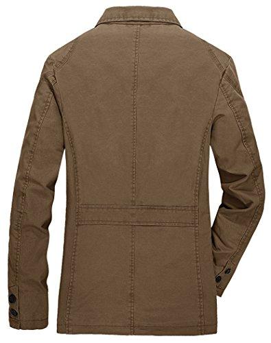Del Blazer All'aperto Soddisfare Uomini Cappotto Cime verde Denim Casuale Collare Nbnnb A8170 HxOZC