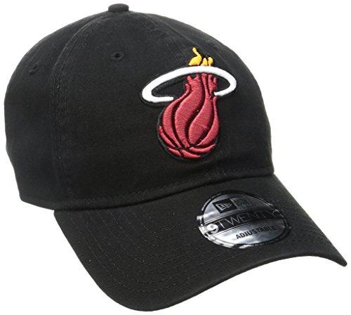 New Era NBA Miami Heat Core Classic 9Twenty Adjustable Cap, Black, One Size