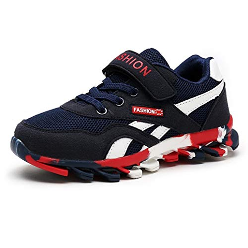Wilbur Gold Toddler Boys Sneaker for Kids Hook Loop Breathable Mesh Non-Slip Running Trainers Comfort Outdoor Sports Athletic Shoes