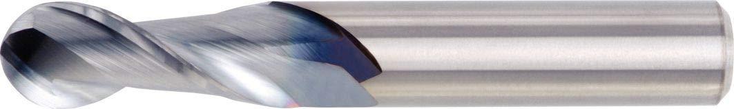 0.375 Shank Dia Carbide WIDIA Hanita 4A0110004 4A01 HP Aluminum End Mill 0.375 Cutting Dia Uncoated 0.875 LOC RH Cut 2-Flute Ball Nose