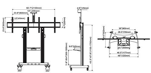 Výsledek obrázku pro Dual Screen TV Cart : AVT1800-60-2A