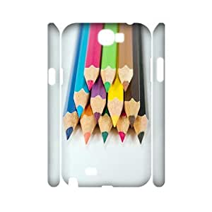 VNCASE Colored Pencil Phone Case For Samsung Galaxy Note 2 N7100 [Pattern-1]