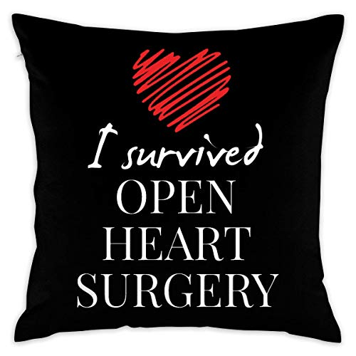 - Uwwrticm Throw Pillow Covers I Survived Open Heart Surgery Decorative Cushion Case for Sofa Bedroom Car 18 X 18 Inch 45 X 45 cm