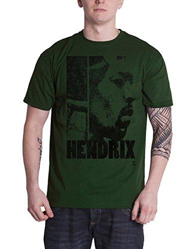 Jimi Hendrix Cap (Jimi Hendrix T Shirt Let Me Live Official Mens Khaki Green)