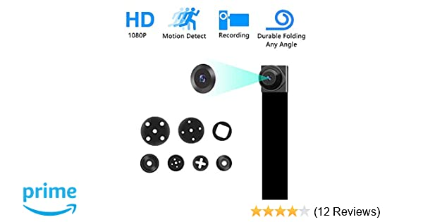 Spy Hidden Camera Diy 1080p Mini Portable Covert Nanny Video Recorder With Motion Detection Security Camera For Home Car Drone Office