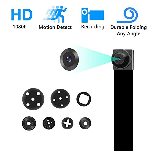 Spy Hidden Camera DIY 1080P Mini Portable Covert Nanny Video Recorder with Motion Detection Security Camera for Home, Car, Drone, Office