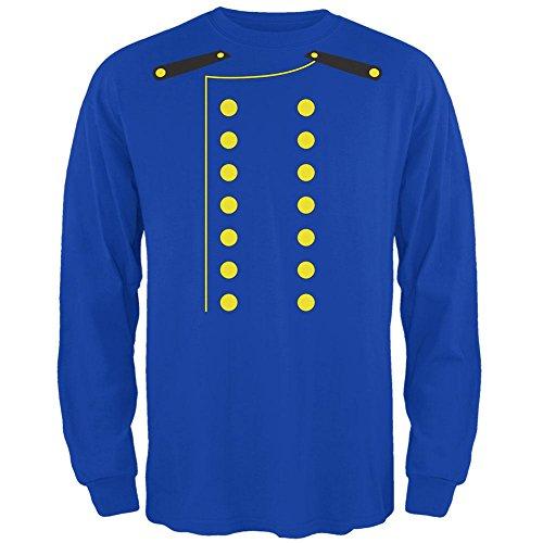 Bellhop Costume Male (Halloween Hotel Bellhop Costume Mens Long Sleeve T Shirt Royal MD)