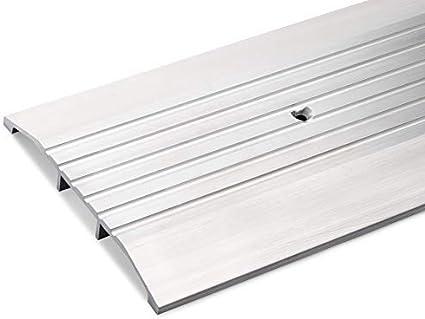 96 3//4 Long 5 Wide x 1//2 High Corrugated Aluminum Threshold