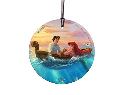 Trend Setters Disney Little Mermaid - Princess Ariel Prince Eric - Thomas Kinkade - Falling in Love - Light Catcher Suncatcher Hanging Glass Collectible - for Gifting and Collecting Ltd.