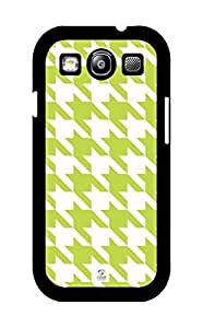iZERCASE Green Houndstooth Pattern Rubber Samsung Galaxy S3 case - Fits Samsung Galaxy S3 Verizon, AT&T, Sprint, T-Mobile and International by runtopwell