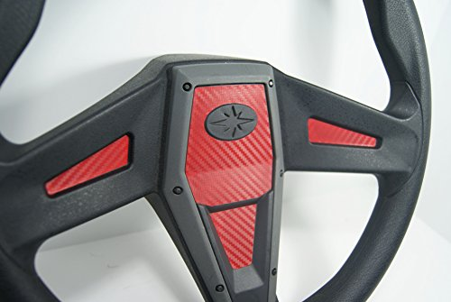 Polaris RZR 1000 Xp Red Carbon Fiber Steering Wheel Inlay Decal Kit Xp1k