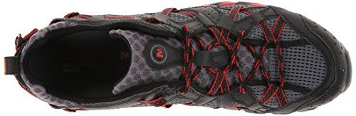 Merrell - Waterpro Maipo, Zapatos de Low Rise Senderismo Hombre Negro (Black/Red)