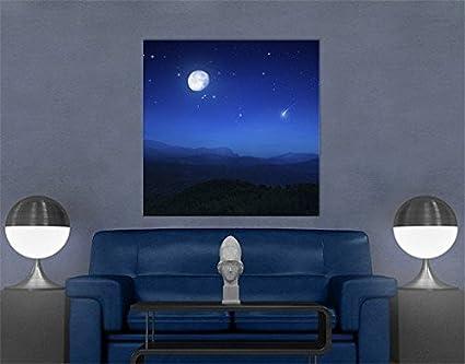 Stampa su tela Full Moon Wish, quadri su tela,quadro su tela,quadri ...