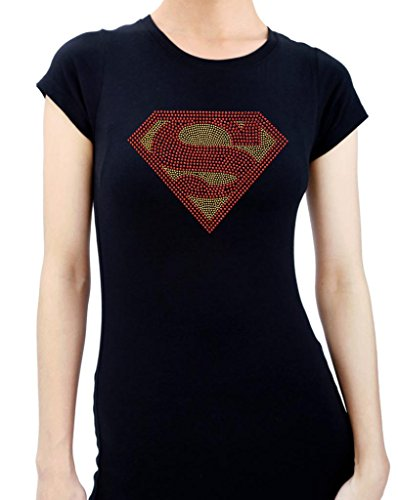 SUPERMAN HANDMADE Rhinestone T-Shirts (Superman Rhinestone)