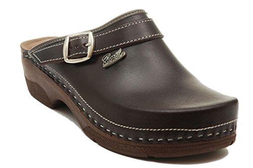 Pantofole Punto Pelle Scarpe Marrone Zoccoli Sabot Dr Donna Rosso B2 BRIL Ug4PHqOH