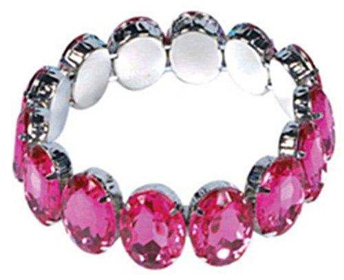 Vintage Hollywood Starlet Flapper Costume Pink Rhinestone Stretch Bracelet ()